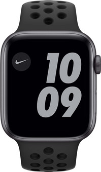 Apple Watch Nike SE 44mm Space Gray Aluminum Black Sport Band
