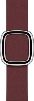 Apple Watch 38/40mm Modern Leather Watch Strap Garnet - Medium