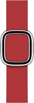 Apple Watch 38/40mm Modern Leather Watch Strap Scarlet - Medium