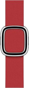 Apple Watch 38/40mm Modern Leather Watch Strap Scarlet - Large