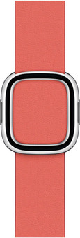 Apple Watch 38/40mm Modern Leather Watch Strap Pink Citrus - Large