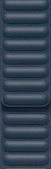 Apple Watch 42/44mm Leather Link Watch Strap Baltic Blue - Small/Medium