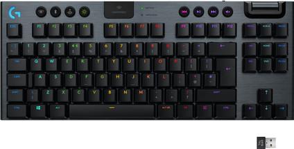 Logitech G915 TKL Tenkeyless Lightspeed Wireless RGB Mechanical Gaming Keyboard QWERTY