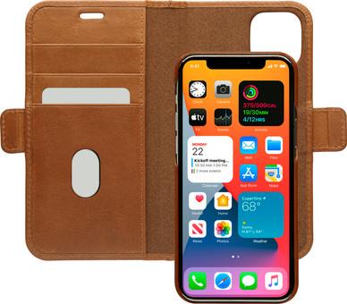 DBramante1928 Lynge Apple iPhone 12 / 12 Pro Book Case Leather Brown