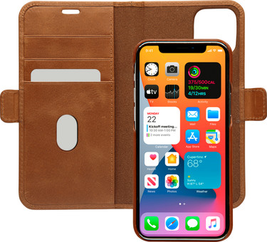 Dbramante1928 Lynge Apple iPhone 12 Pro Max Book Case Leather Brown