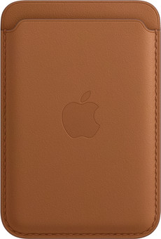 Apple Leather Wallet for iPhone with MagSafe Saddle Brown