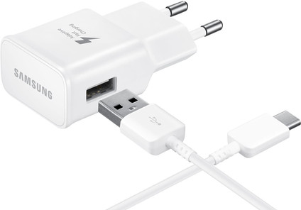 Samsung Charger with USB-C Cable 1.2m Adaptive Fast Charge 15W White