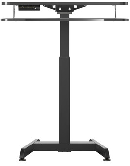 Worktrainer Small Electric Sit-Stand Desk 80x40 Black
