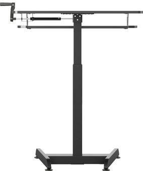 Worktrainer Small Hand Crank Sit-Stand Desk 80x40 Black