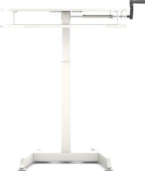 Worktrainer Small Hand Crank Sit-Stand Desk 80x40 White