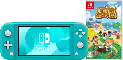 Nintendo Switch Lite Turquoise + Animal Crossing + Nintendo Switch Online (3 months)