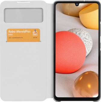 Samsung Galaxy A42 S View Book Case White