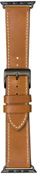 DBramante1928 Copenhagen Apple Watch 42/44mm Leather Strap Brown/Space Gray