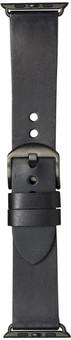 DBramante1928 Bornholm Apple Watch 42/44mm Leather Strap Black/Space Gray