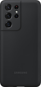 Samsung Galaxy S21 Ultra Silicone Back Cover Black with S Pen