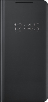Samsung Galaxy S21 Ultra LED View Book Case Black