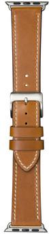 DBramante1928 Copenhagen Apple Watch 42/44mm Leather Strap Brown/Silver