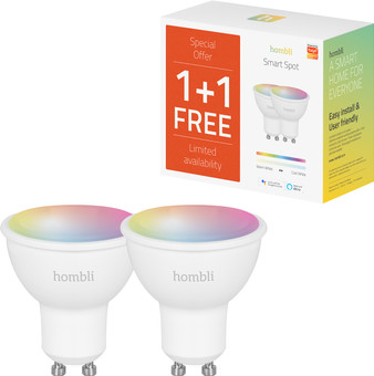 Hombli Smart Spot Dimmable White and Color Duo Pack