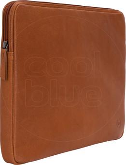 BlueBuilt 15-inch Laptop Cover Width 35 - 36cm Leather Cognac