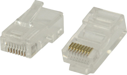 Valueline UTP CAT5 Network Plug Transparent 10 units