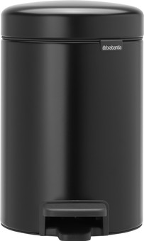 Brabantia NewIcon Pedal Trash Can 3 Liters Matte Black