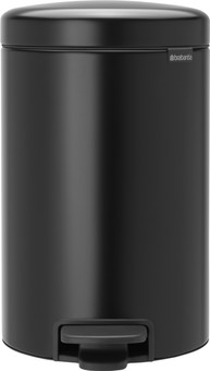 Brabantia NewIcon Pedal Trash Can 12 Liters Matte Black