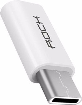 ROCK Adapter USB-C to Micro-USB White