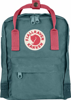 Fjällräven Kånken Mini Frost Green-Peach Pink 7L- Children's Backpack
