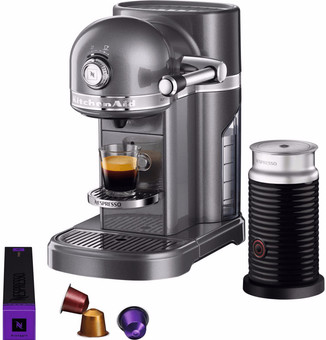 KitchenAid Nespresso and Aeroccino 5KES0504 Tin Gray