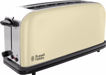 Russell Hobbs Colors Plus + Classic Cream Long Slot Toaster