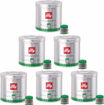 Illy MIE Capsules Decaffeinated 6 x 21 pieces