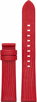 Michael Kors Access 18mm Leather Watchband Red