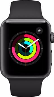 Apple Watch Series 3 42mm Space Gray Aluminum/Black Sport Band
