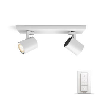 Philips Hue Runner Mounted Spot White Ambiance 2 Lights White Bluetooth