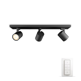 Philips Hue Runner Mounted Spot White Ambiance 3 Lights Black Bluetooth