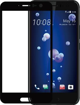 Azuri HTC U11 Screenprotector Gehard Glas Zwart