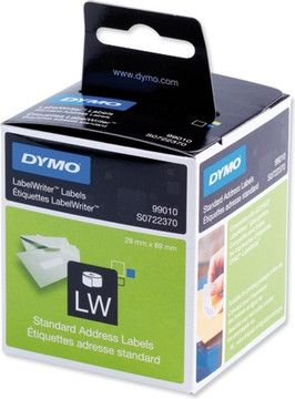 DYMO Adreslabels Wit (28 mm x 89 mm) 2 Rollen