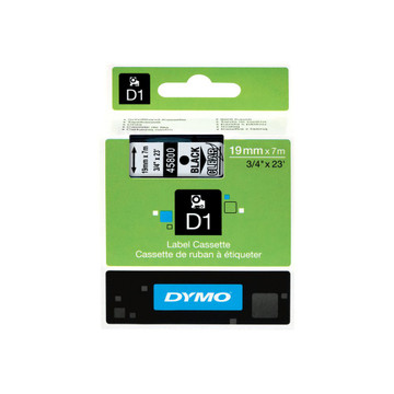 DYMO D1 Naamlabels Zwart-Wit (19 mm x 7 m)