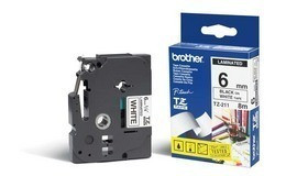 Brother TZ-211 Zwart op Wit (6 mm x 8 m)