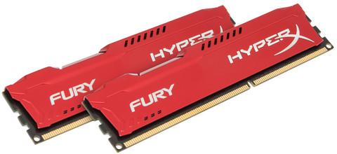 Kingston HyperX Fury 16 GB DIMM DDR3-1600 rood 2 x 8 GB
