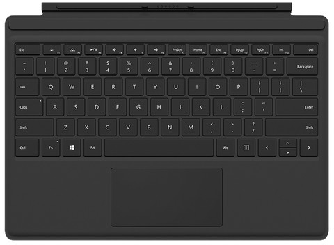 Microsoft Surface Pro 4 Type Cover Zwart AZERTY