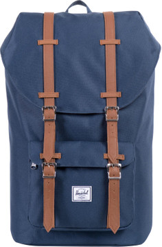 Herschel Little America Navy/Tan Synthetic Leather