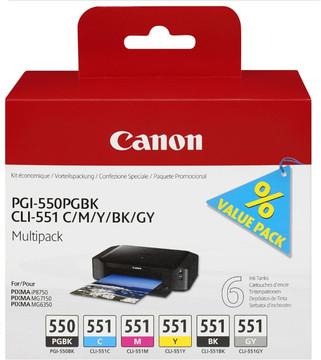 Canon PGI-550/CLI-551 6-Kleuren Pack (6496B005)
