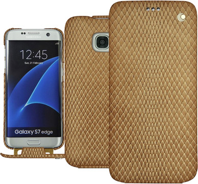 Noreve Tradition Snake Leather Case Galaxy S7 Edge Beige