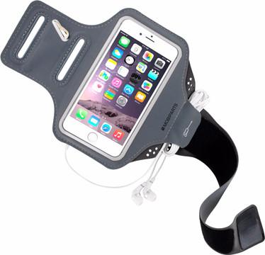 Mobiparts Comfort Fit Sportarmband iPhone 6/6s/7 Grijs