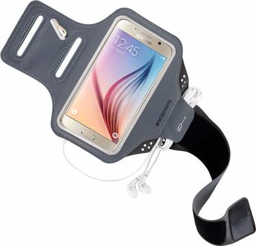Mobiparts Comfort Fit Sportarmband Galaxy S6 Grijs
