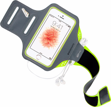 Mobiparts Comfort Fit Sportarmband iPhone 5/5S/SE Groen