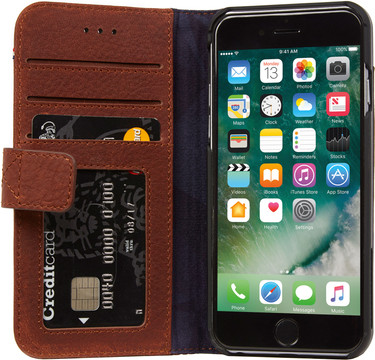 Decoded Leather Wallet Case iPhone 6/6s/7/8 Bruin