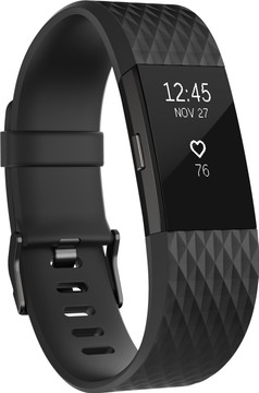 Fitbit Charge 2 Black/Gunmetal - L - Special Edition