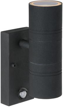 Lucide Arne-LED Wandlamp Zwart met Bewegingssensor M